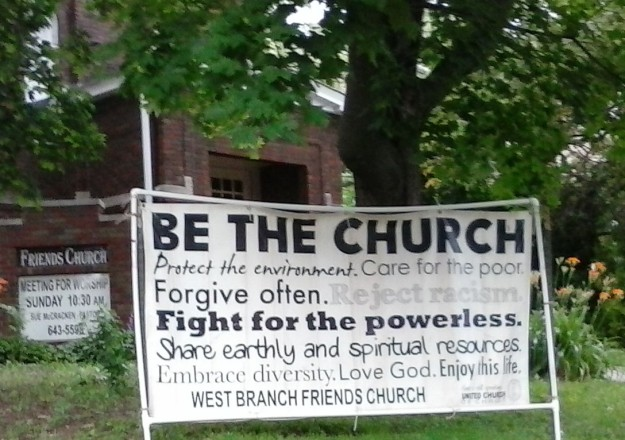 UCC Sign at West Branch Friends Church